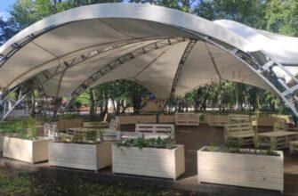 В пермском саду имени Миндовского установили арочный шатёр